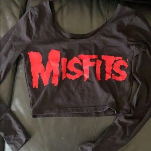 Misfits long sleeve crop top